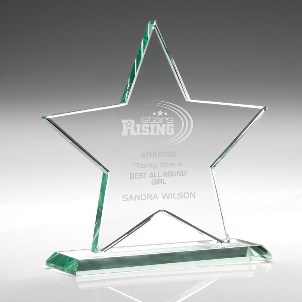 13.5cm Jade Glass Star (10mm Thick)