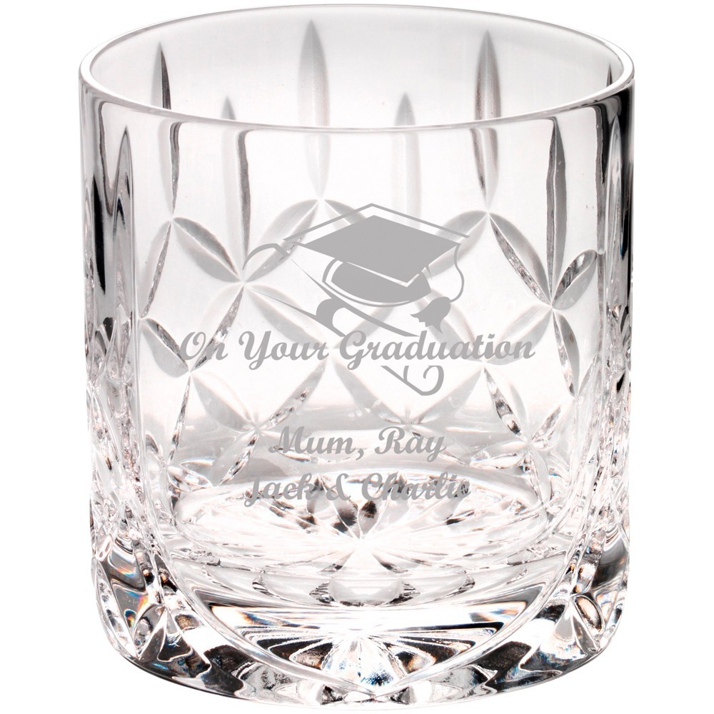 8.5cm 290Ml Whiskey Glass - Blank Panel