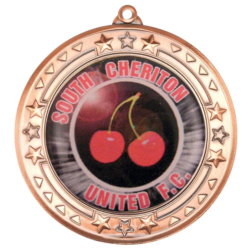 7cm Tri Star' Medal - Bronze 2.75In
