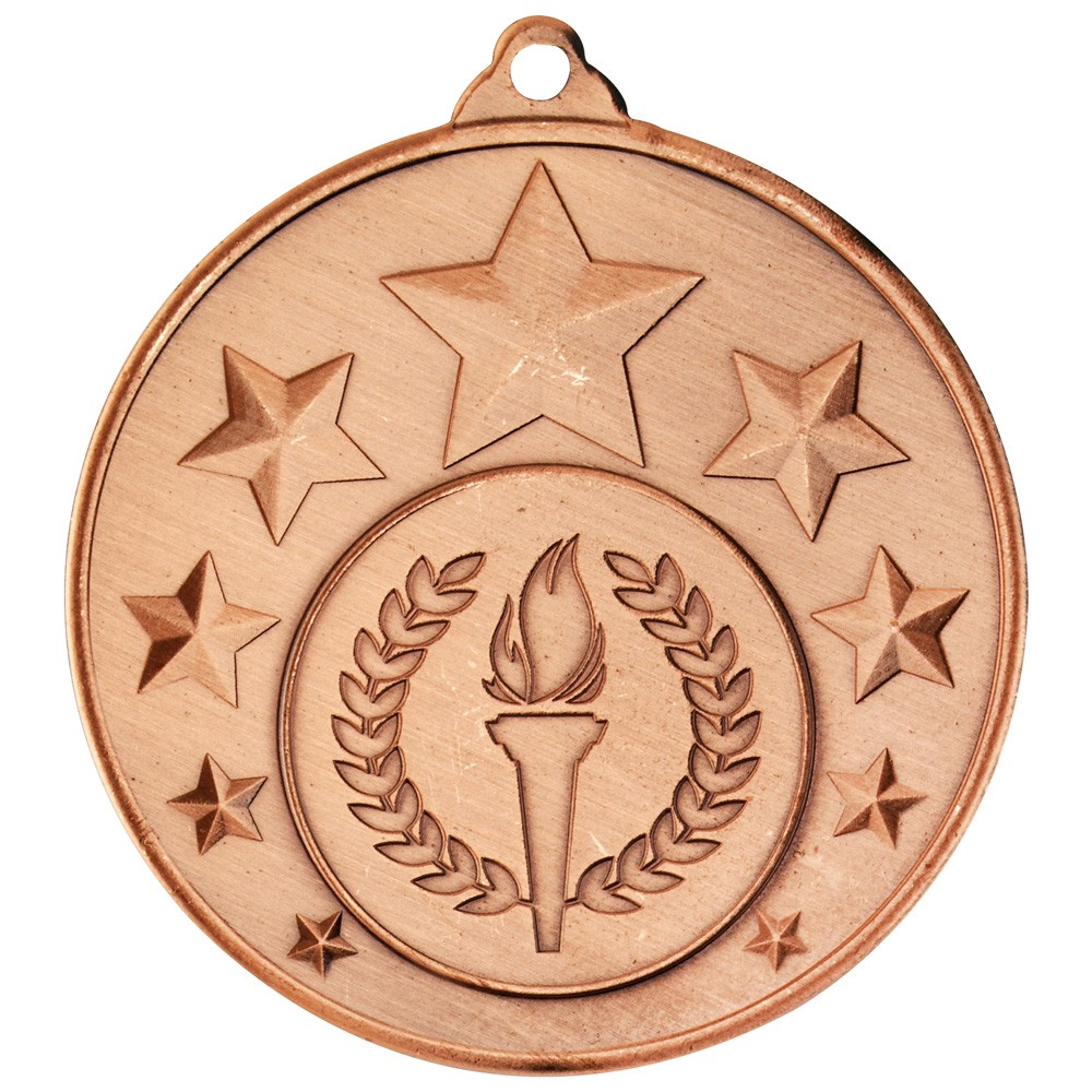 Multi Star Medal (1 inch Centre) - Bronze 2 inch