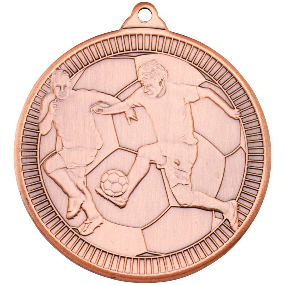 5cm Football 'Multi Line' Medal - Bronze