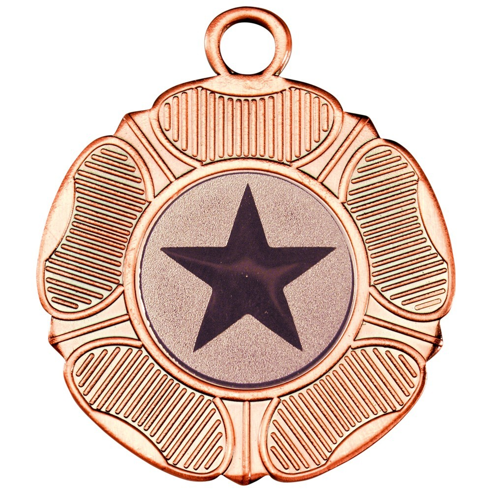 5cm Tudor Rose Medal - Bronze