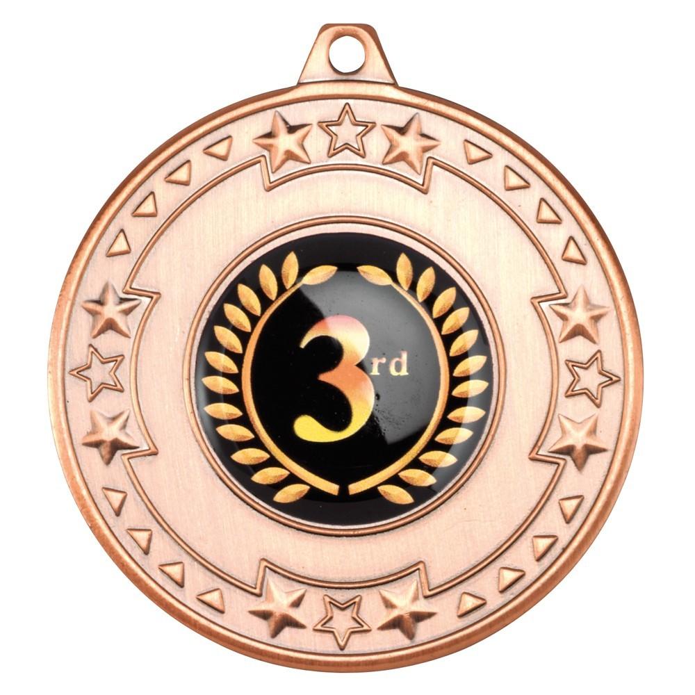 5cm Tri Star Medal - Bronze