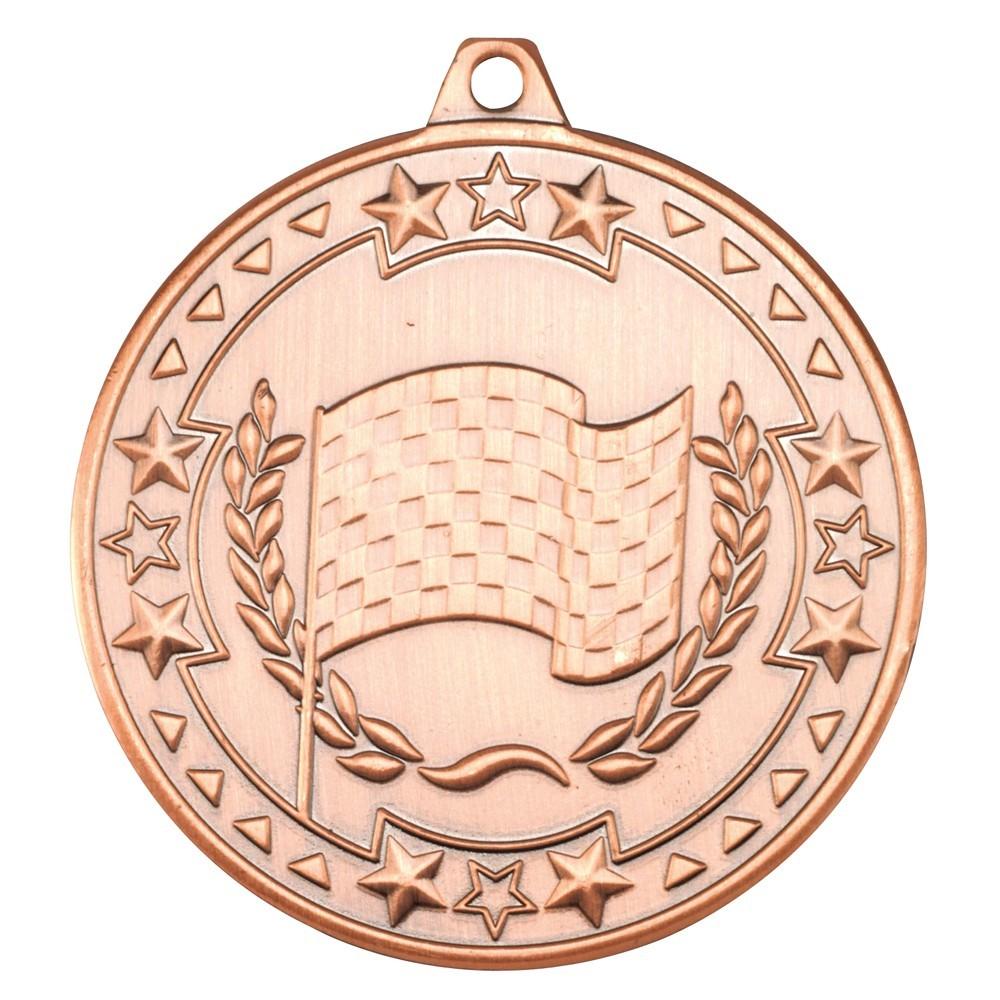 5cm Motor Sport 'Tri Star' Medal - Bronze