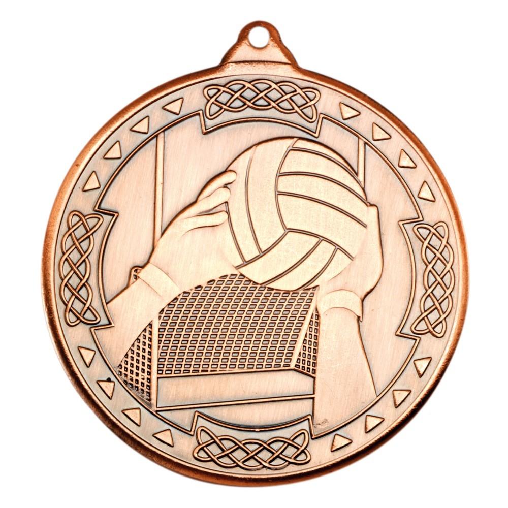 5cm Gaelic Football Celtic Medal - Bronze