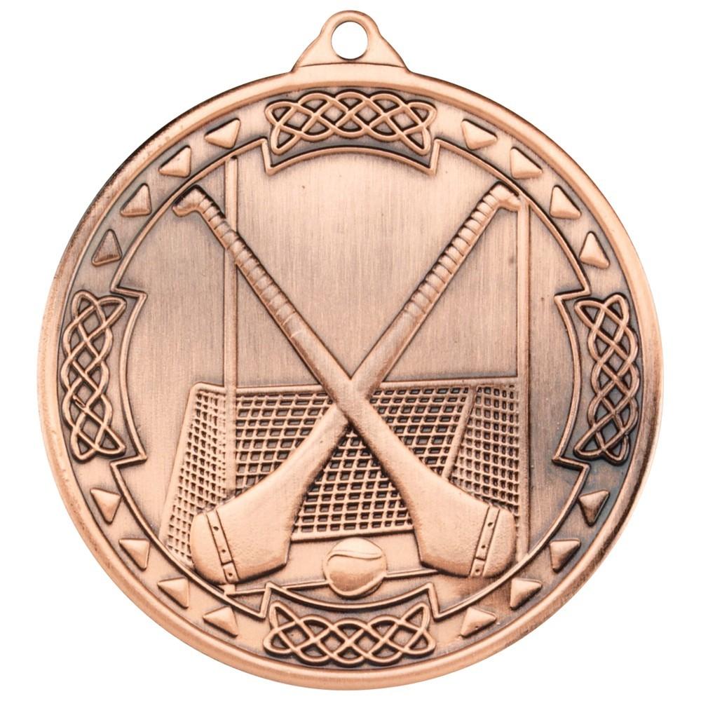 5cm Hurling Celtic Medal - Bronze