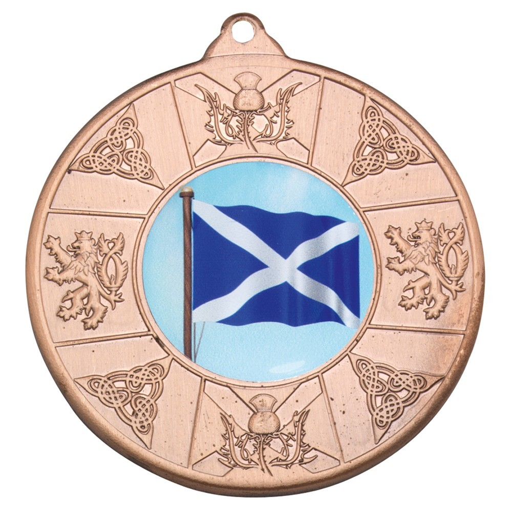 Scotland 50mm Multi Sport Medal - Available in Gold, Silver and Bronze