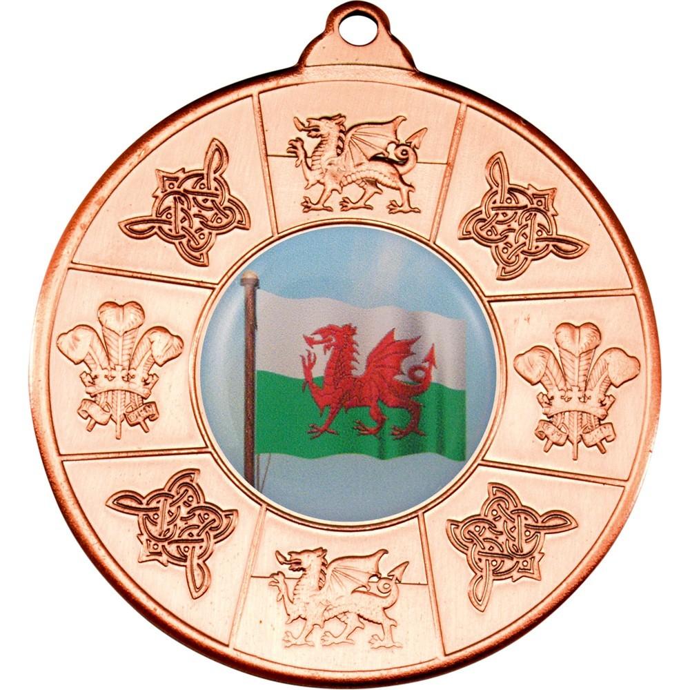 5cm Wales Medal - Bronze