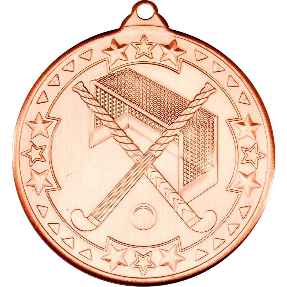 5cm Hockey Medal - Bronze