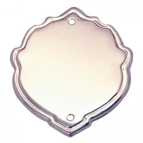 44mm Bevel Edged Silver Side Shield with Border