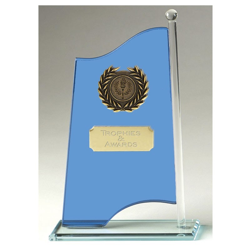 Banner Glass Clear Award And Blue