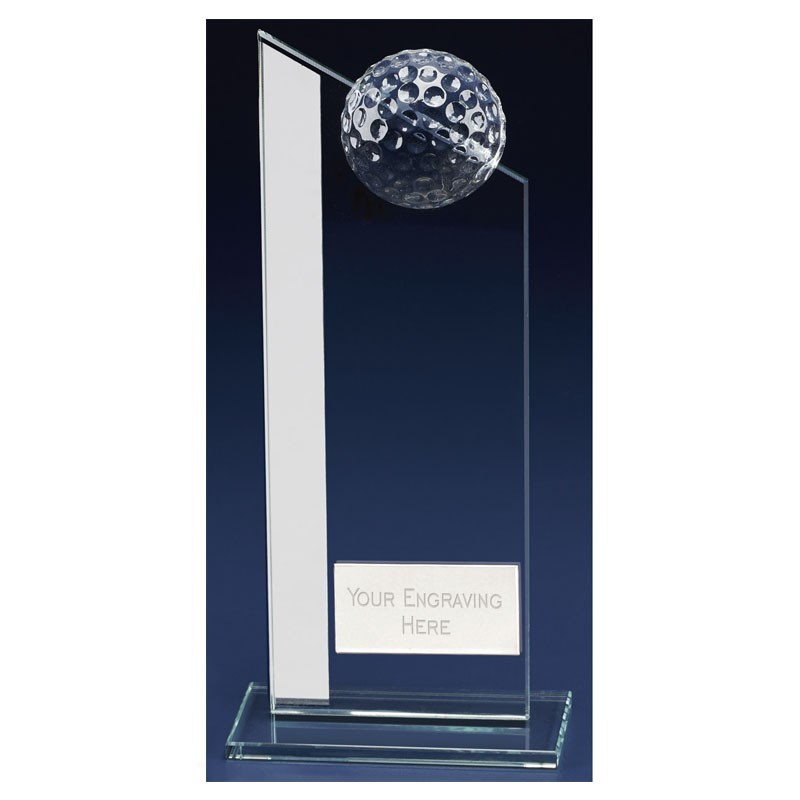 Colony Club Golf Glass Clear Award And Silver
