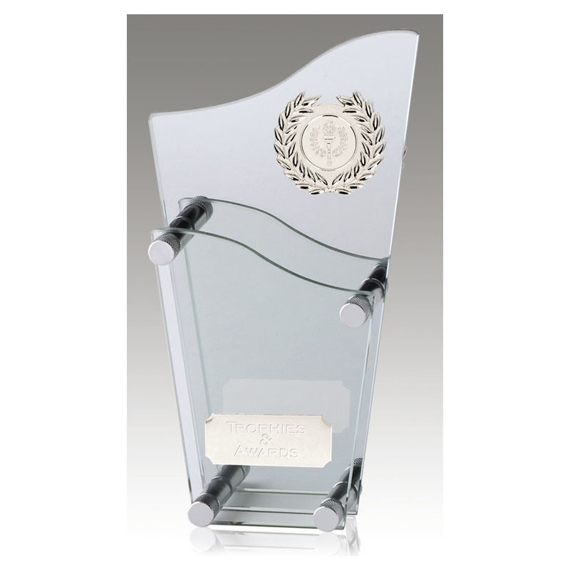 Topmost Glass Clear Award And Silver Mirror