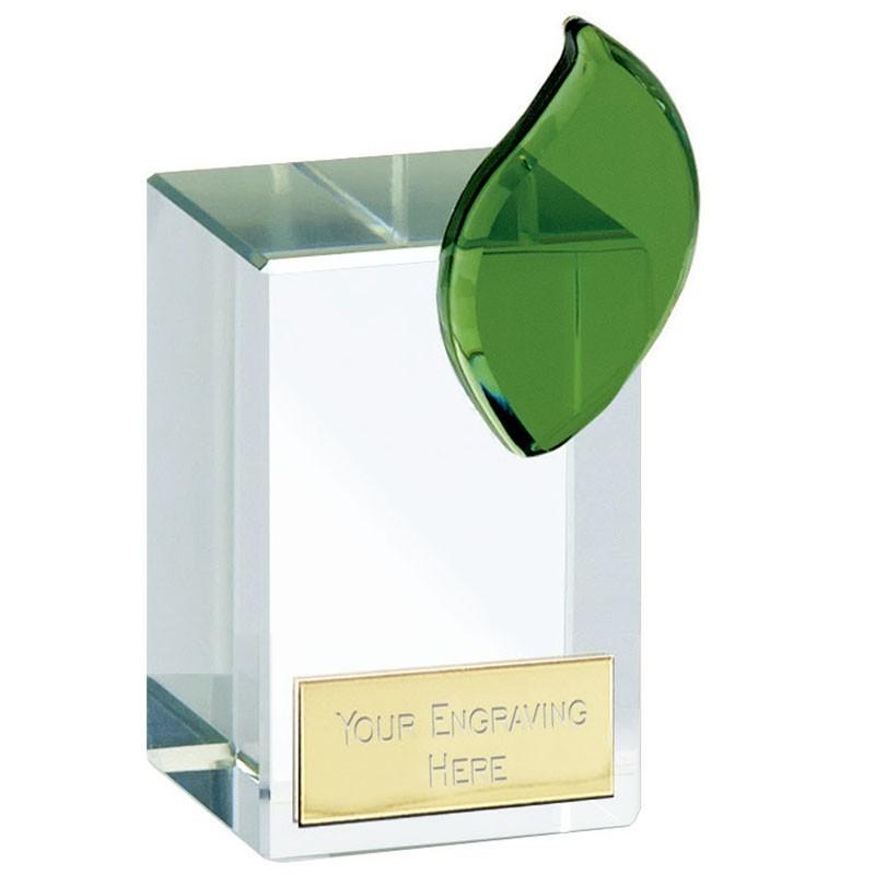 Leaf Crystal Clear Award And Green