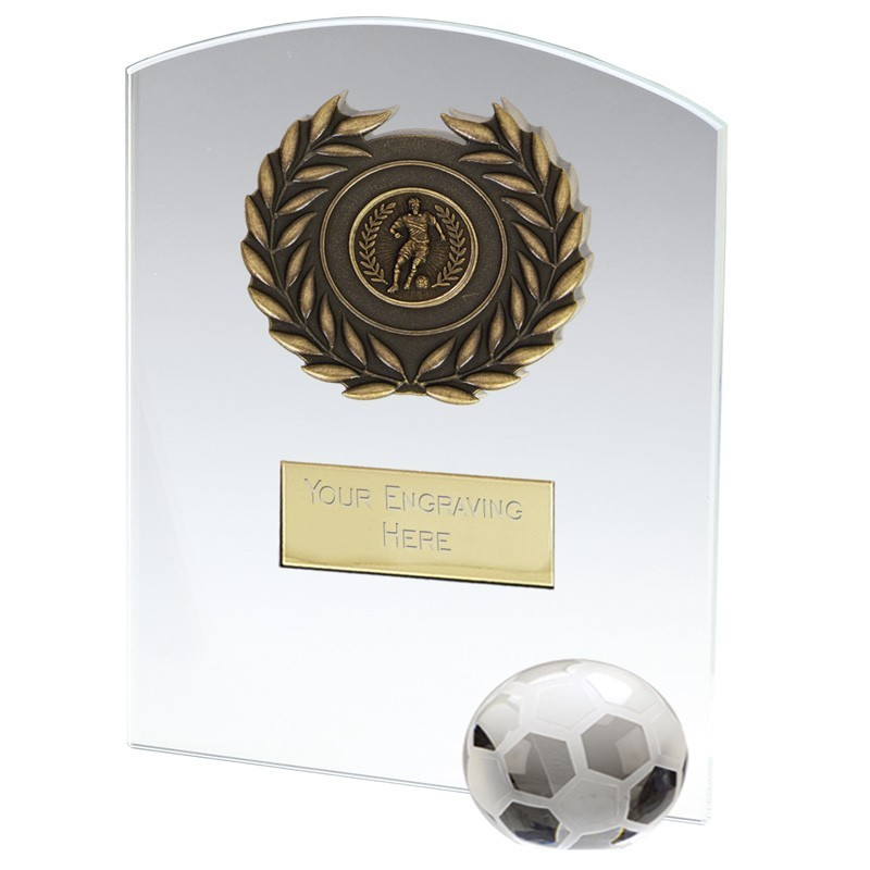 Strike Football Jade Glass Clear Award