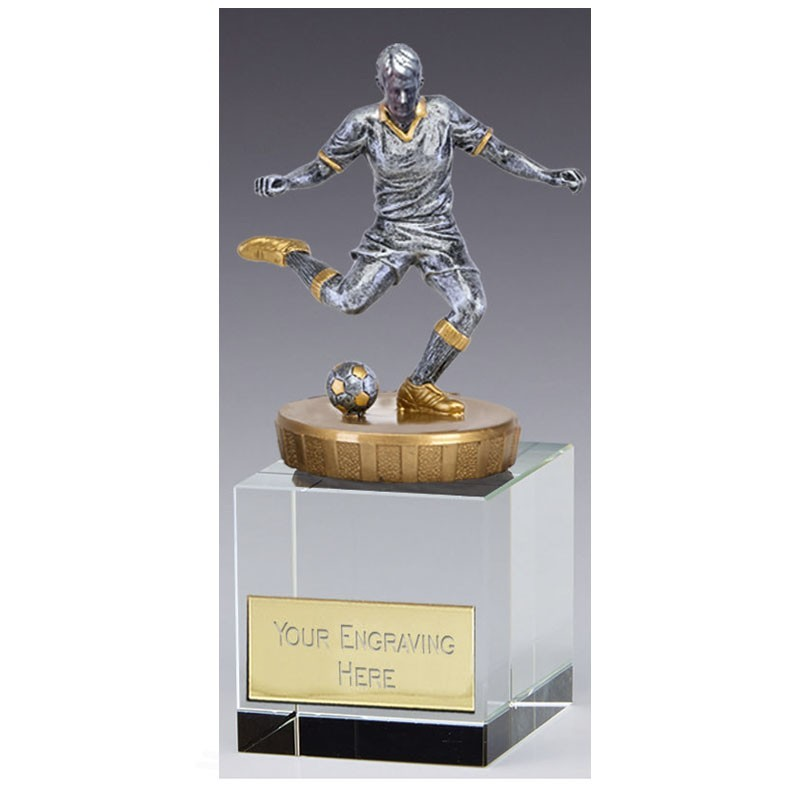 Merit Crystal Footballer In Silver And Gold