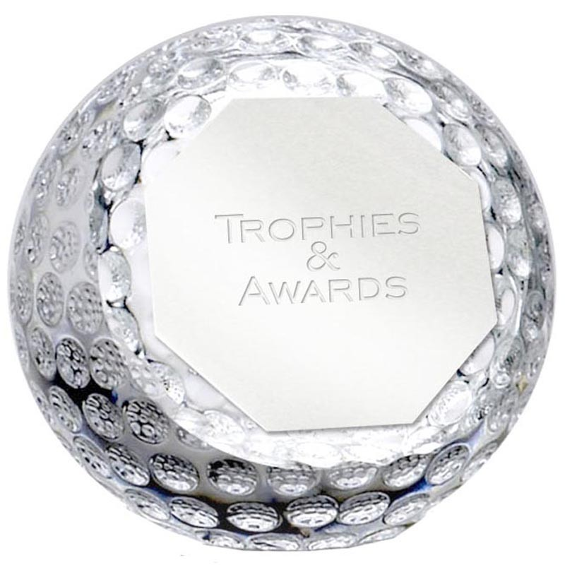 Orbgolf Paperweight Clear Award