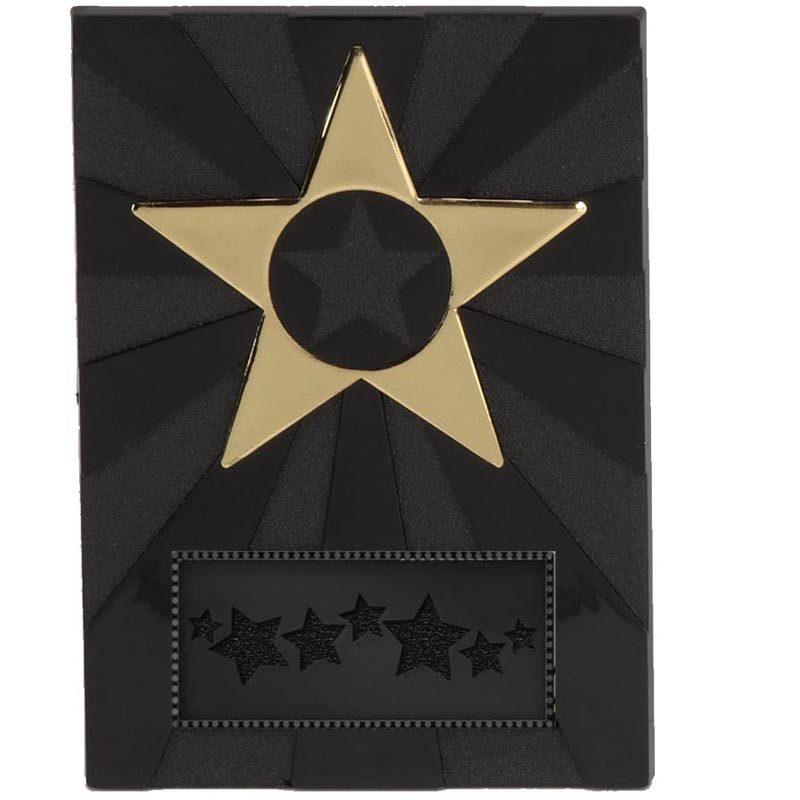 Apex Star Plaque In Black And Gold