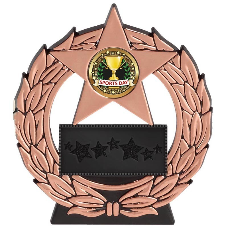 11.5cm Mega Star Sports Day Plaque