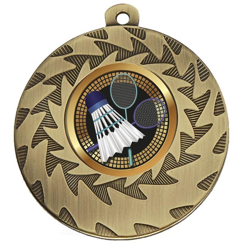 5cm Prism Badminton Medal