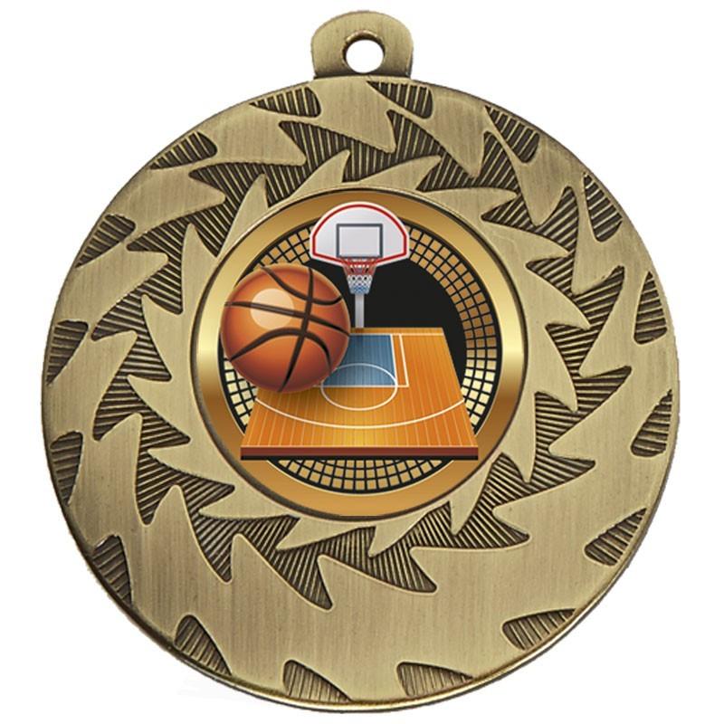 5cm Prism Basketball Medal