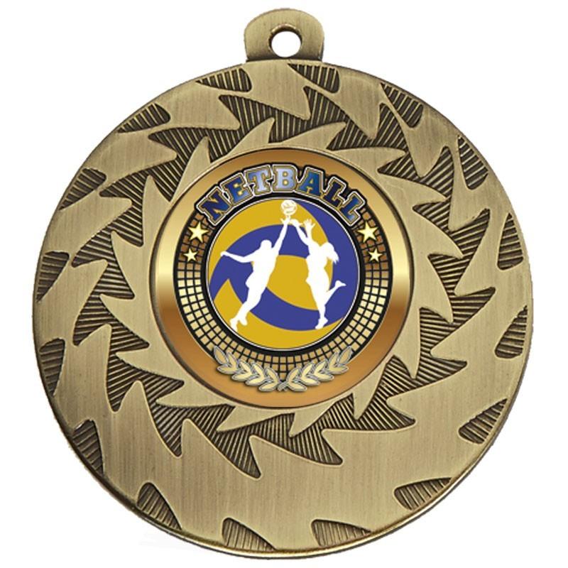 5cm Prism Netball Medal