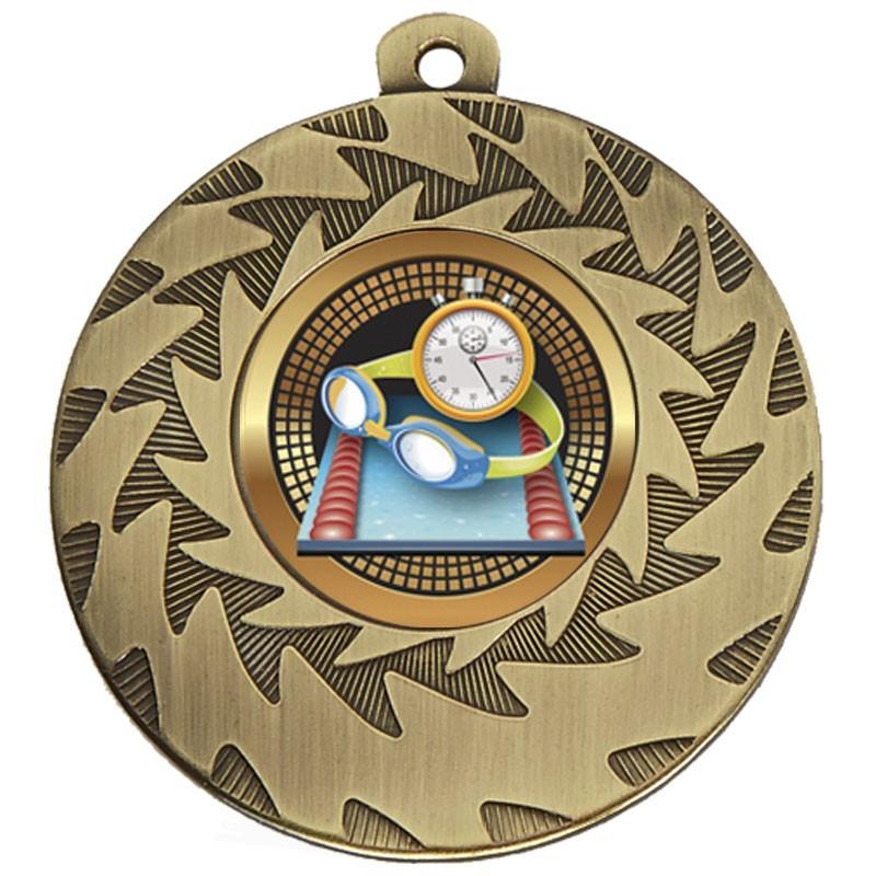 5cm Prism Swimming Medal