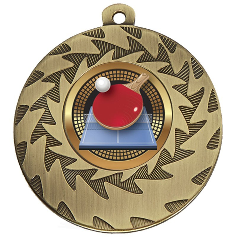 5cm Prism Table Tennis Medal
