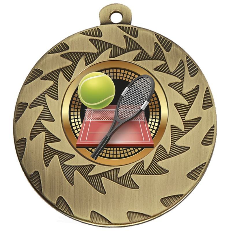 5cm Prism Tennis Medal