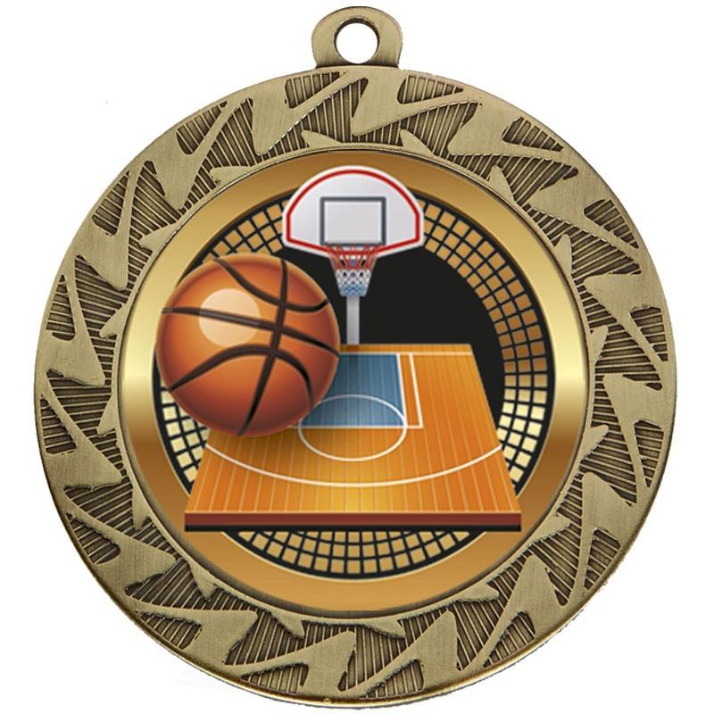 7cm Prism Basketball Medal