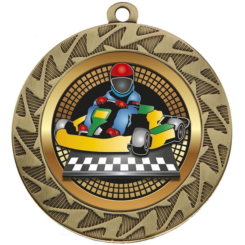 7cm Prism Go-Kart Medal