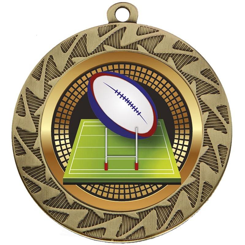 7cm Prism Rugby Medal
