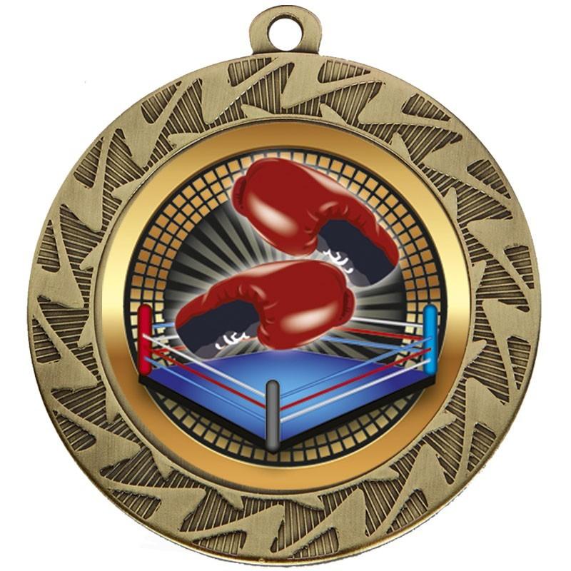 7cm Prism Boxing Medal & Case