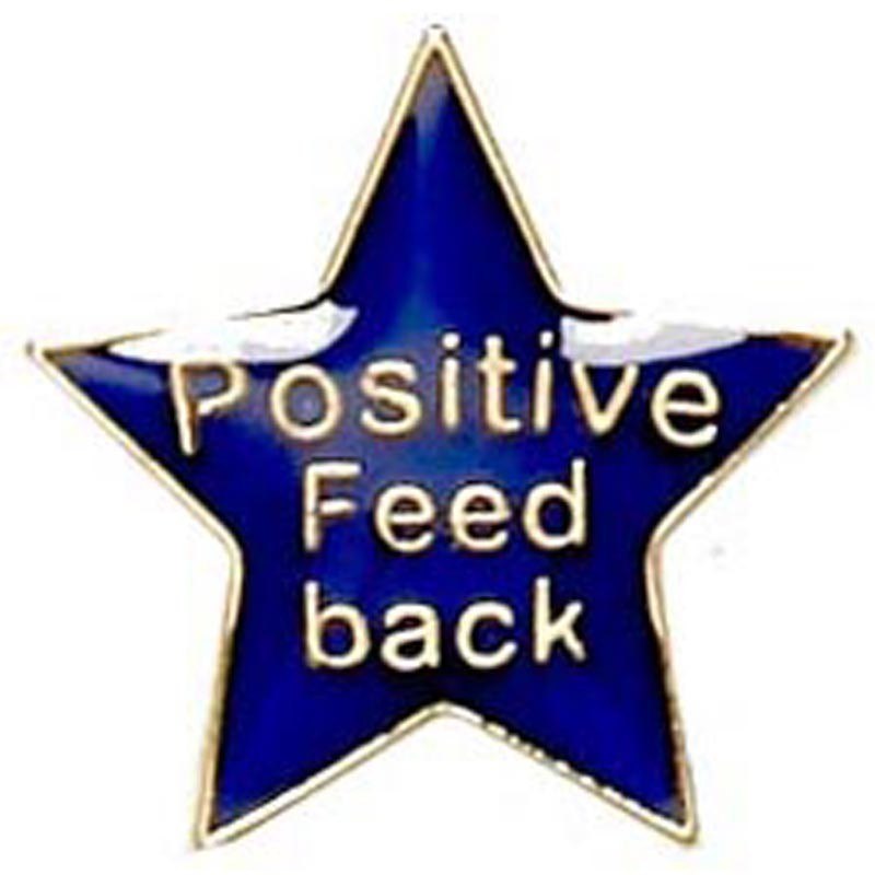 2cm Badge Positive Feedback