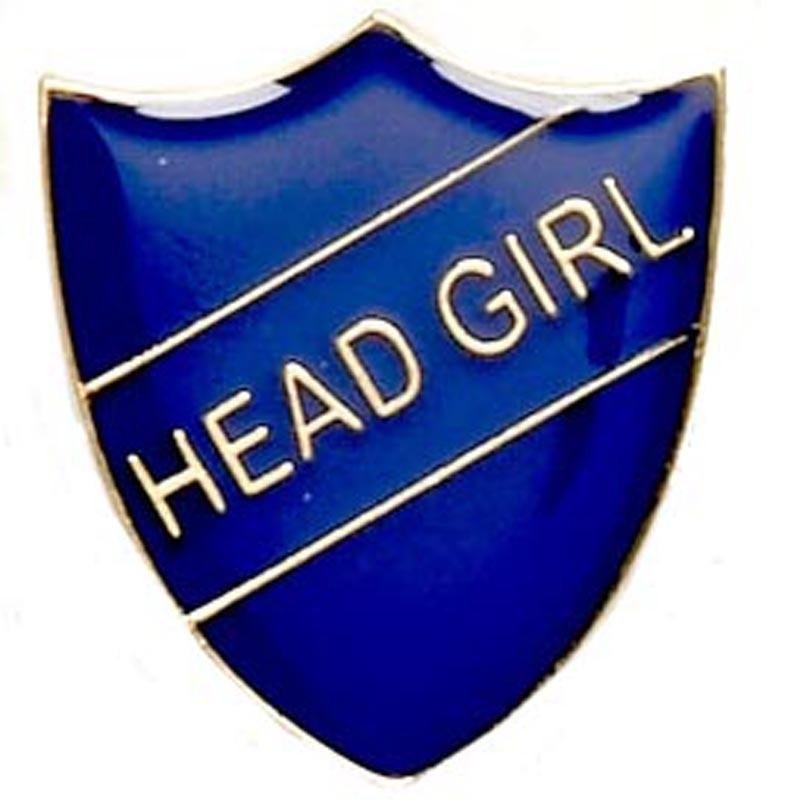 2.2X2.5cm Shield Badge Head Girl