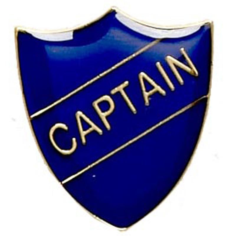 2.2X2.5cm Shield Badge Captain