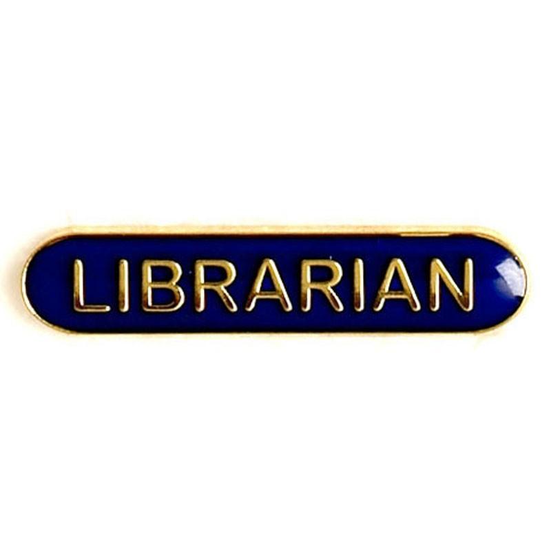 4X0.8cm Bar Badge Librarian