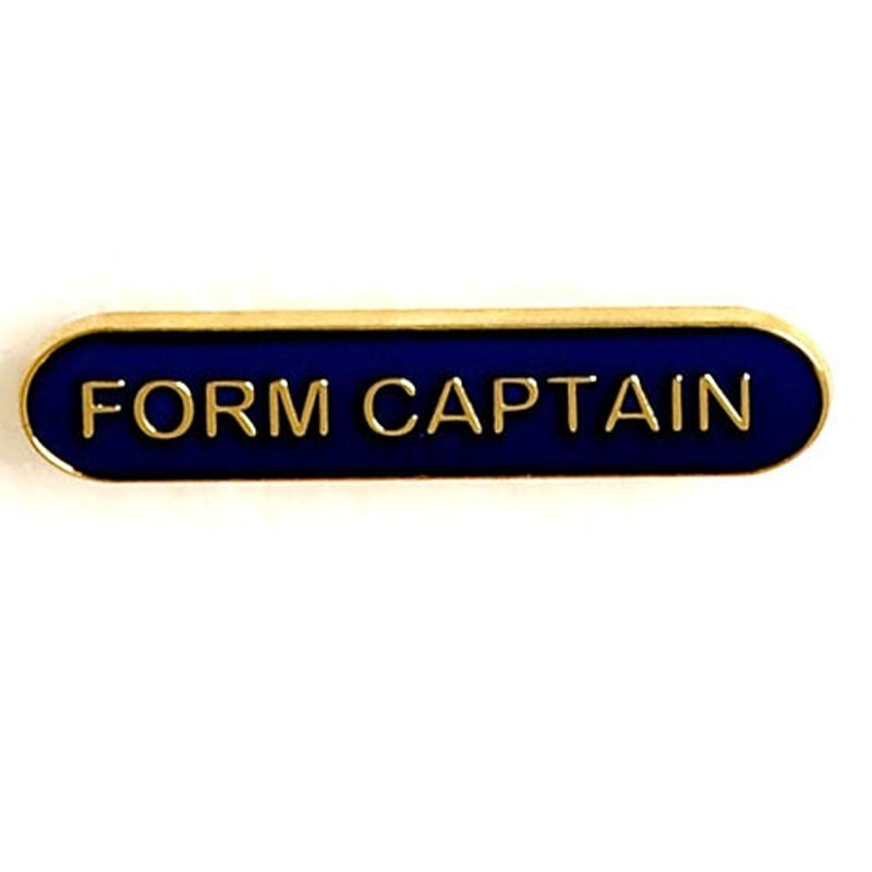 4X0.8cm Bar Badge Form Captain