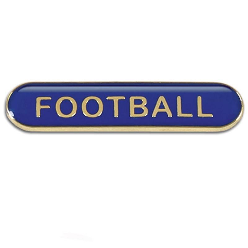 4X0.8cm Bar Badge Football