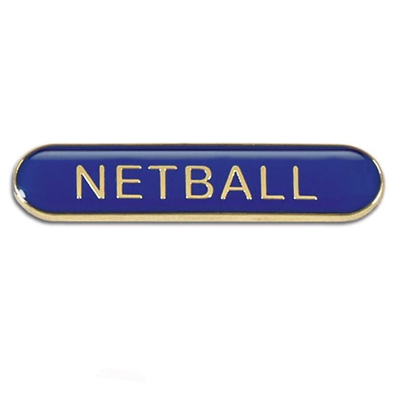 4X0.8cm Bar Badge Netball