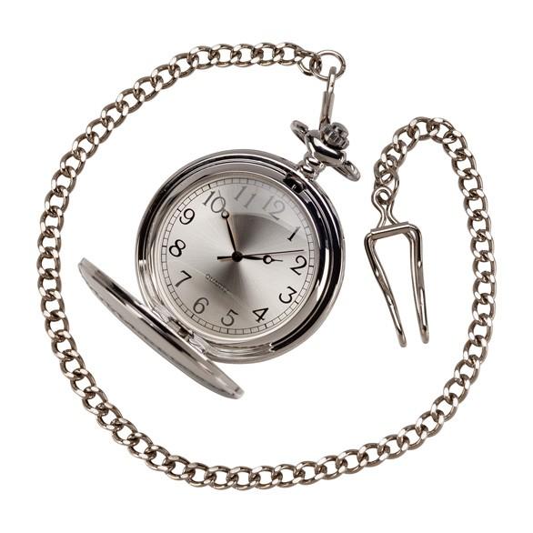 Timeless Pocket Watch Polished Steel 65mm