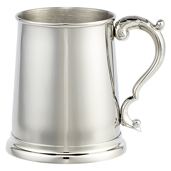 Augustine Polished Steel 1pt Tankard 115mm