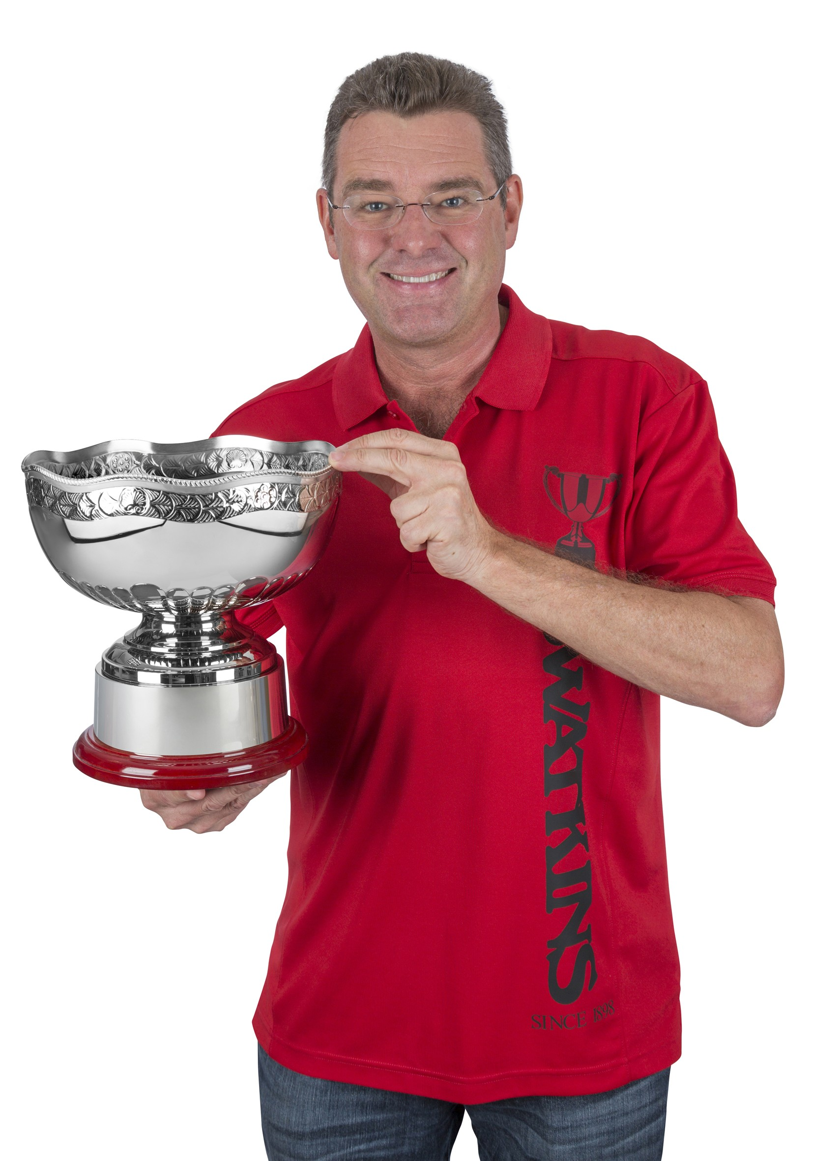 25.5cm Nickel Plated Hand Chased Pentagon Bowl