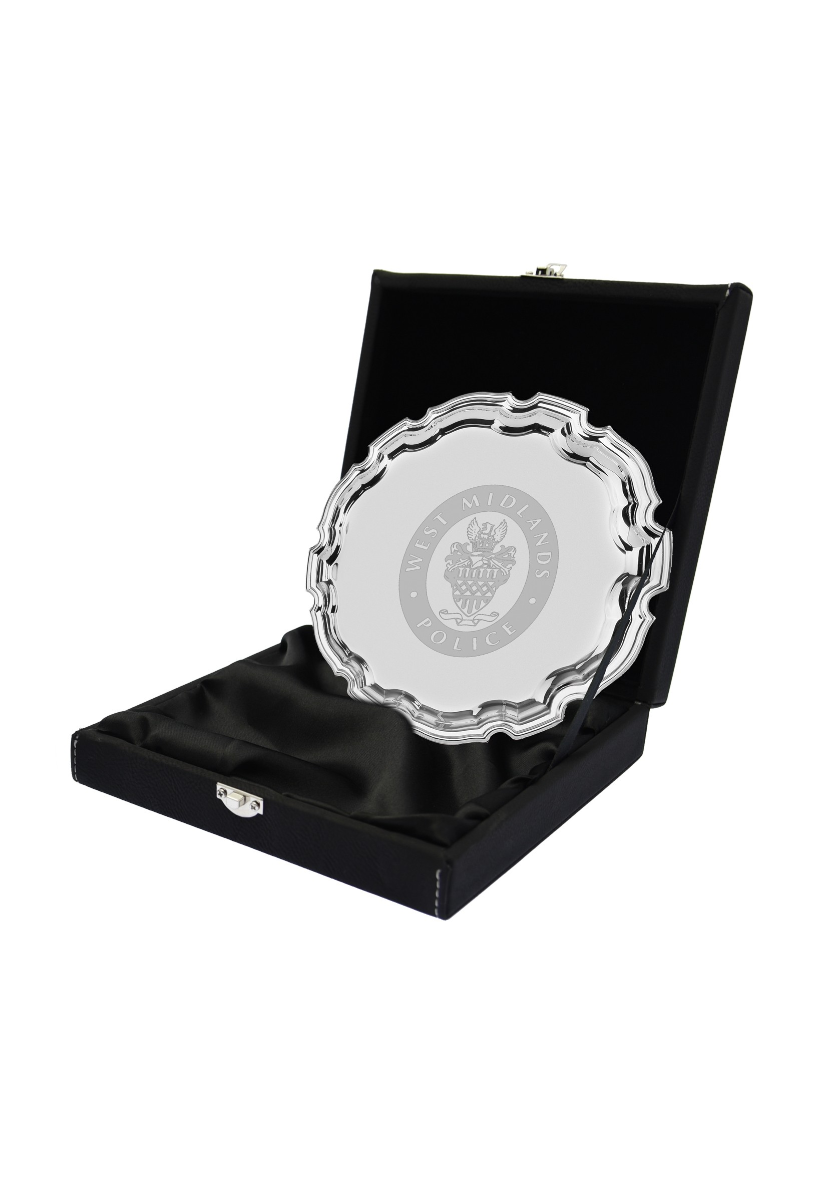 LZXL Black with Silver 10cm Salver Case
