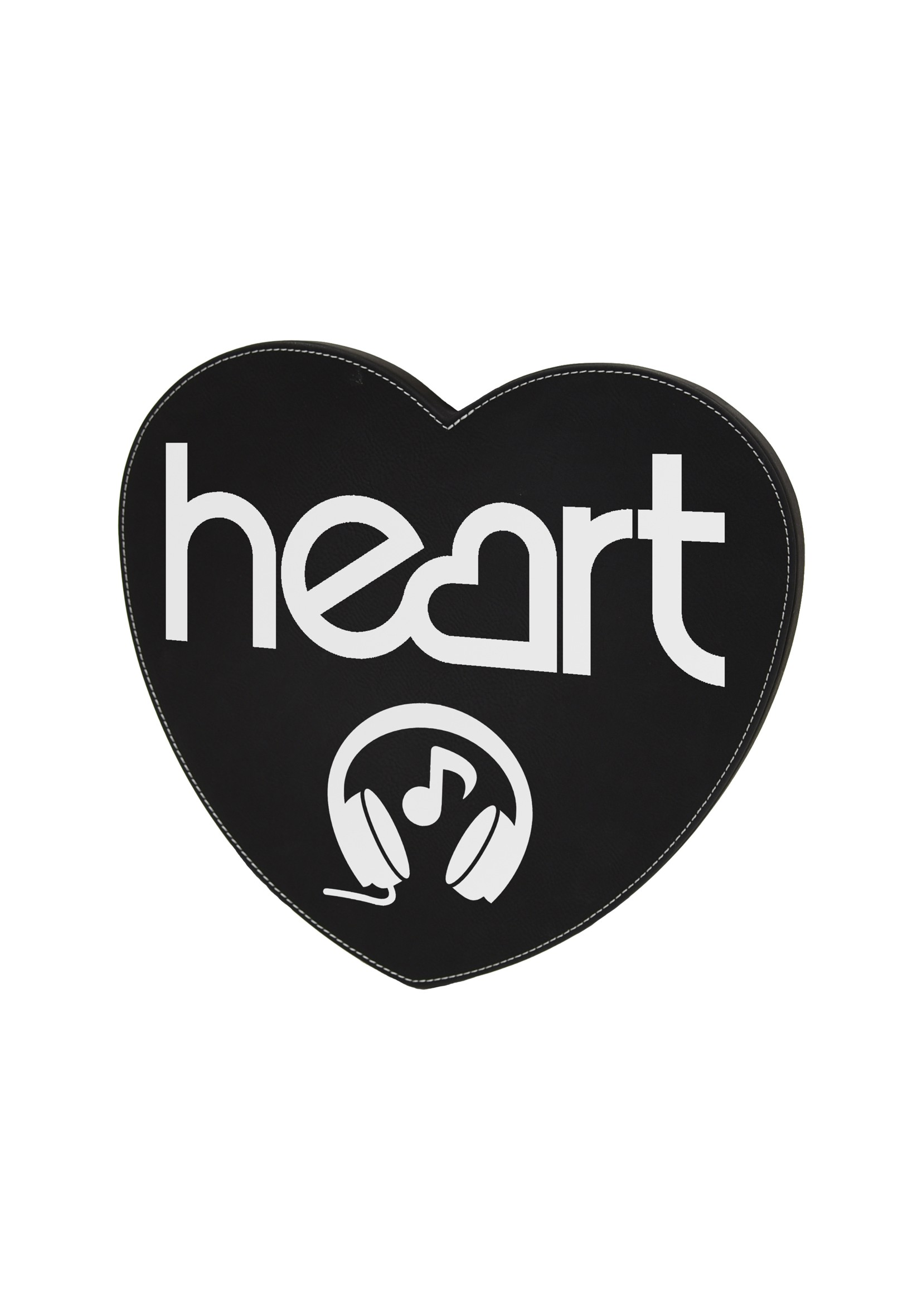 LZXL Black with Silver Heart Wall Plaque