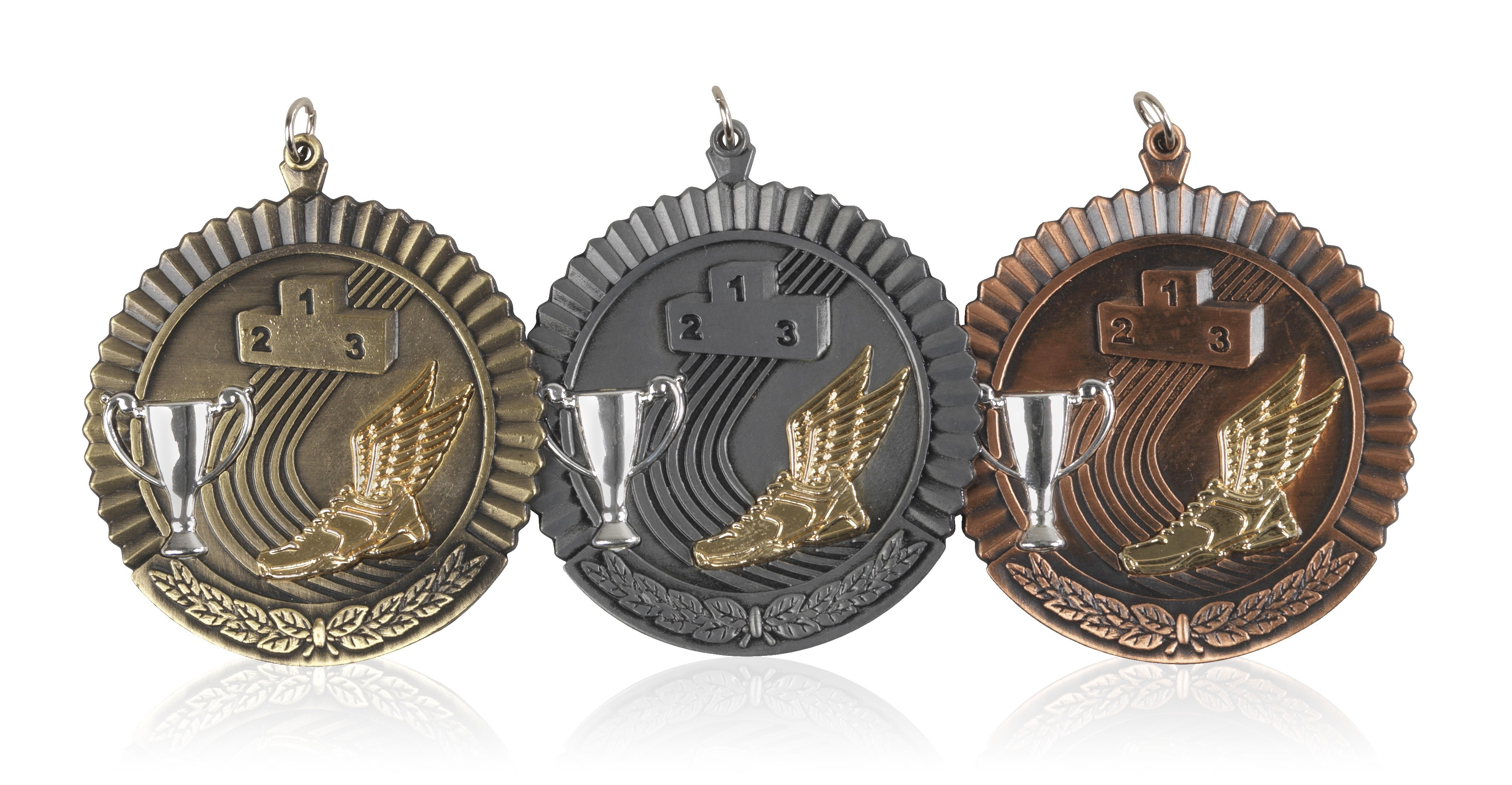 MB (P) 50mm Athletics Medal Antique Bronze
