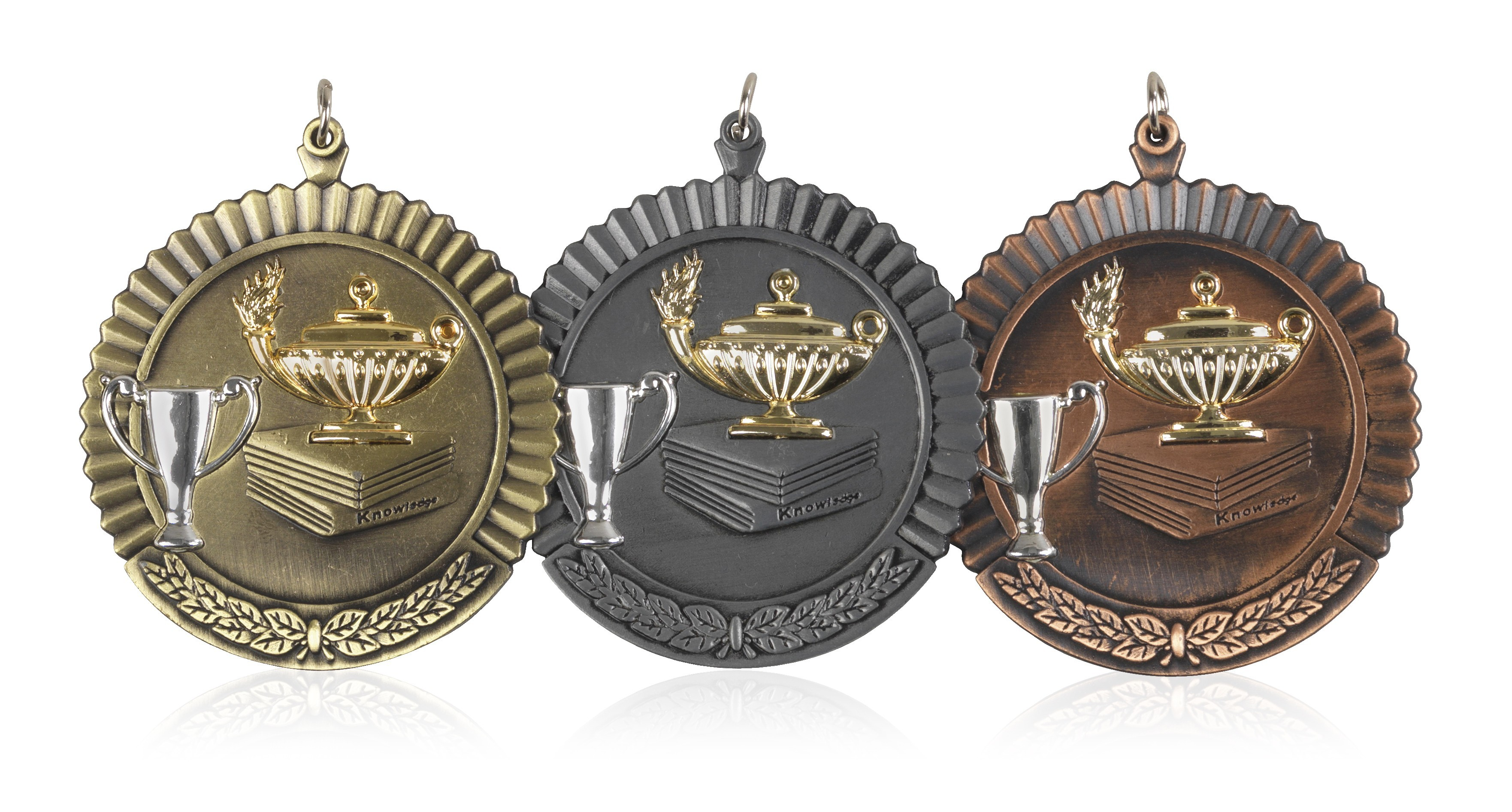 MB (P) 50mm Knowledge Medal Antique Bronze