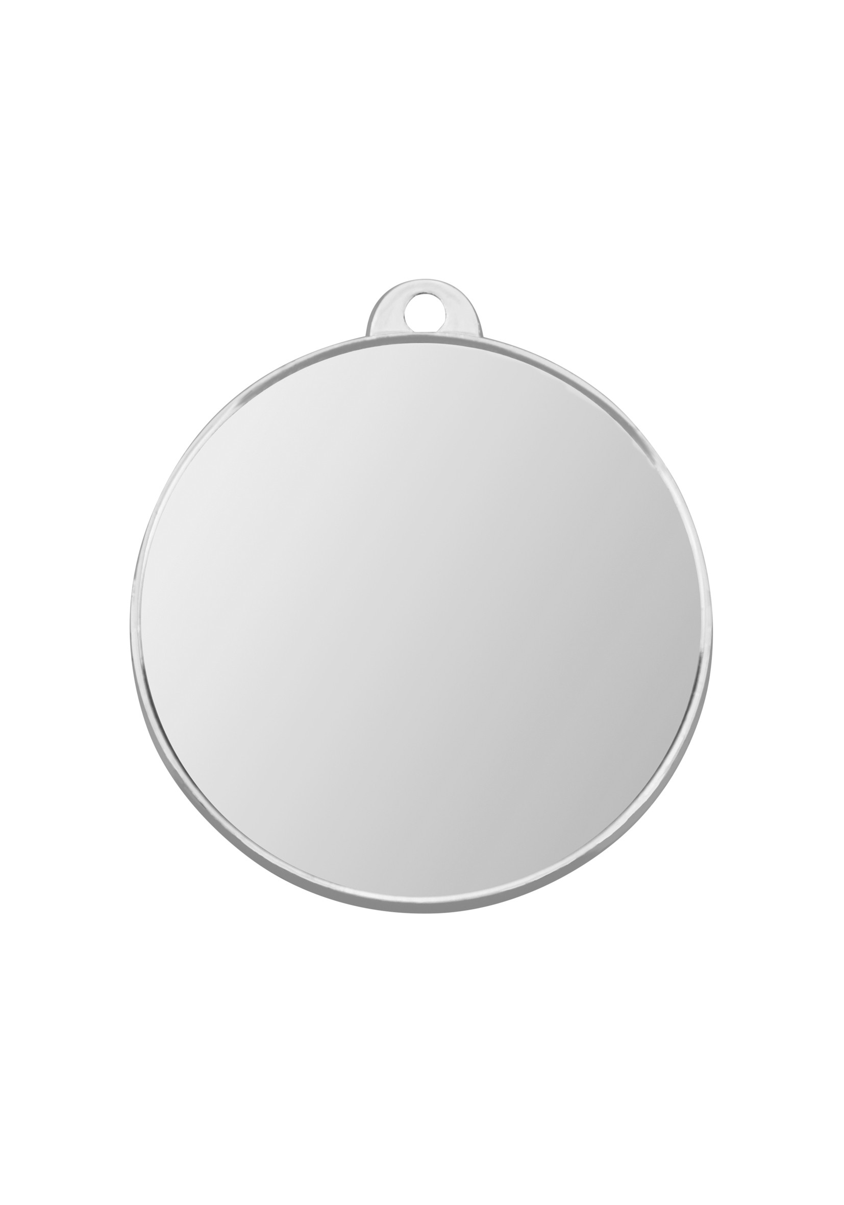 MB (P) 50mm Sil Finish Plain Medal with loop