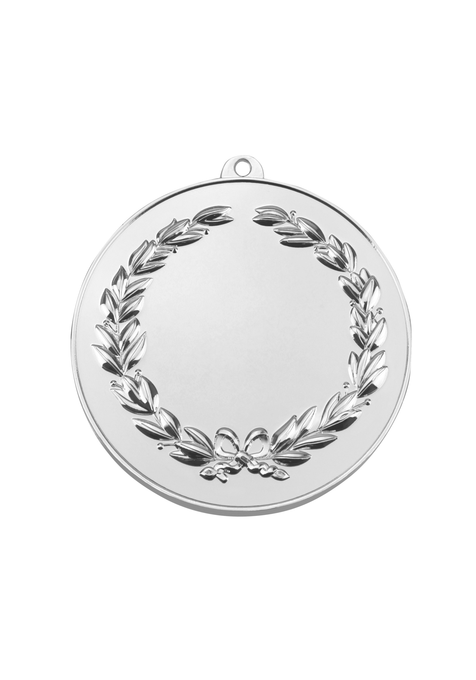 MB (P) 50mm Sil Finish Wreath Medal with loop