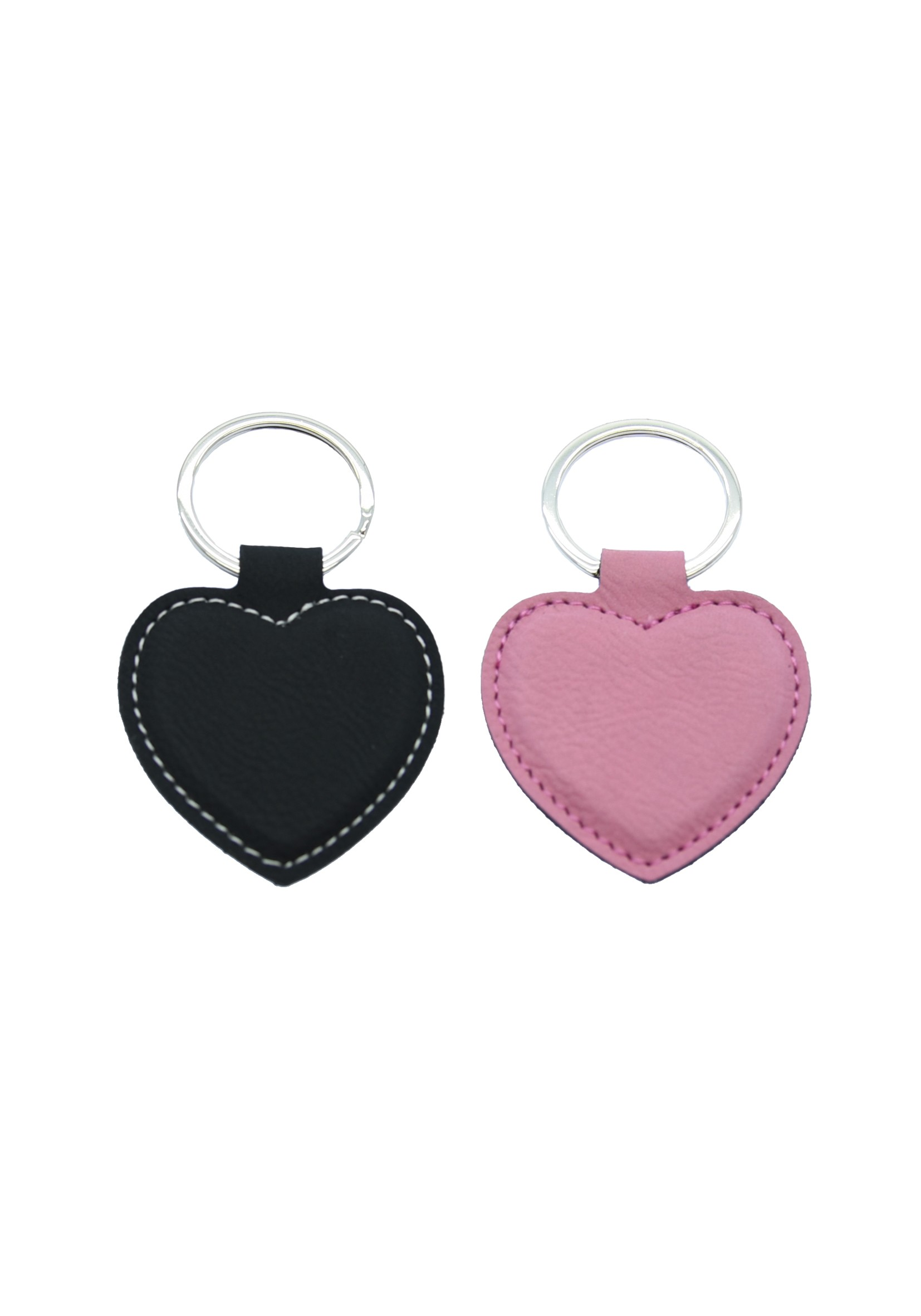 LZS Pink with Black Heart Keyring